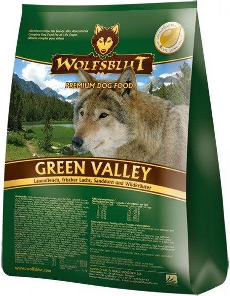 WOLFSBLUT Green Valley Lamm und Lachs mit Kartoffel Hundetrockenfutter