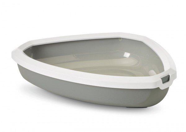 SAVIC Rincon grau/weiß Katzentoilette
