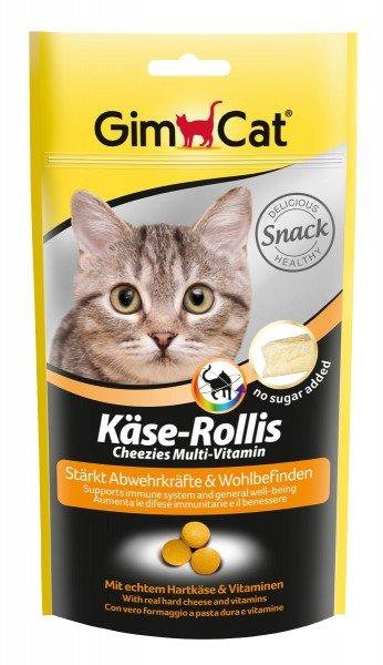 GimCat Käse-Rollis Multi-Vitamin 40g Katzensnack