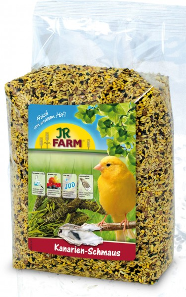 JR FARM Kanarien-Schmaus 1kg Vogelfutter