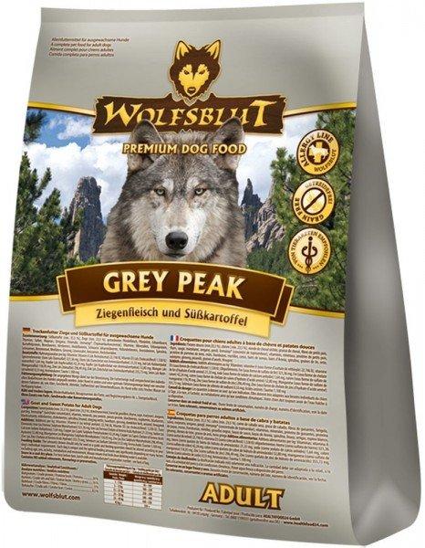 WOLFSBLUT Grey Peak Adult mit Ziegenfleisch & Süßkartoffel Hundetrockenfutter