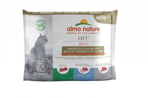 Almo Nature HFC Jelly 3 Sorten mit Thunfisch 6 x 55g Beutel Multipack Katzennassfutter