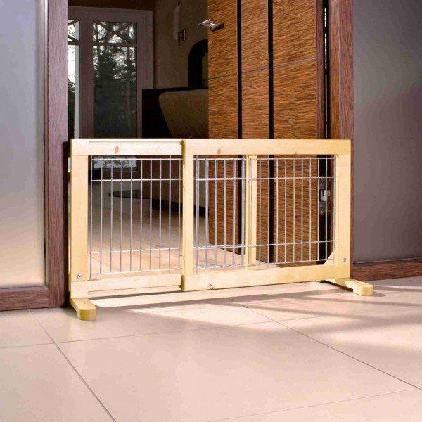 TRIXIE Hunde-Absperrgitter Holz 65-108x50cm