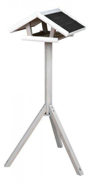 TRIXIE natura Futterhaus mit Ständer 46x22x44/115cm grau/weiß