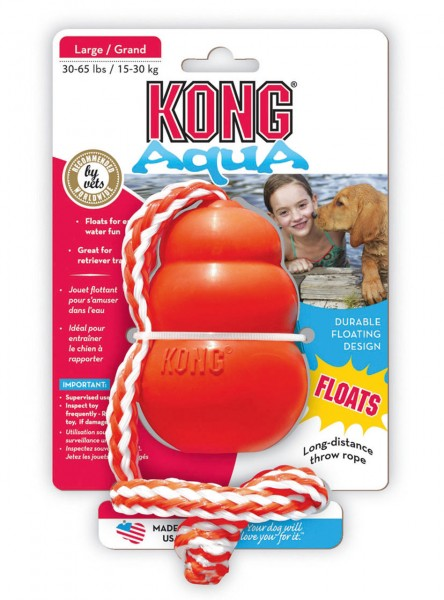 KONG Aqua mit Wurftau L orange Hundespielzeug