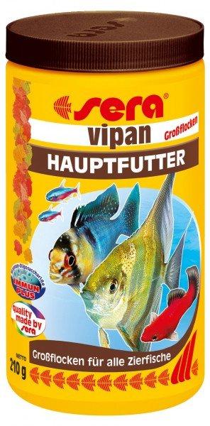 sera Vipan Großflocke 210g / 1000ml XL-Hauptfutter für alle Zierfische