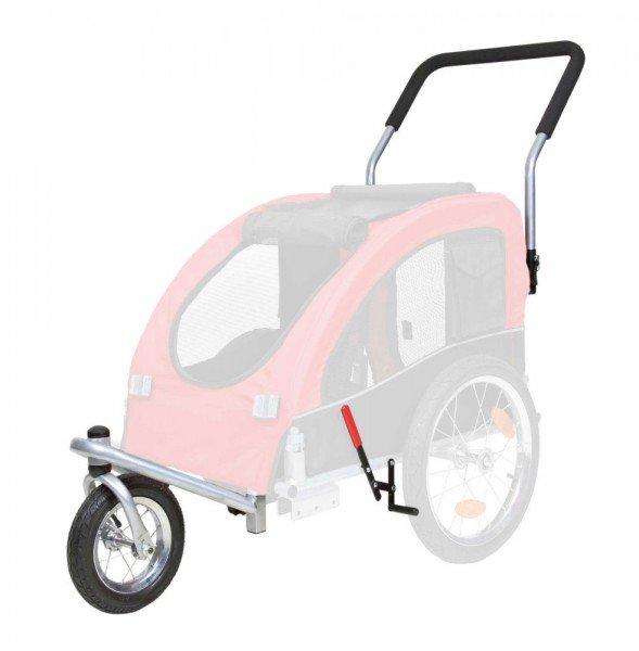 TRIXIE Jogger-Umbausatz für Fahrrad-Anhänger M schwarz/rot (#12815)