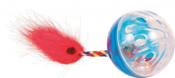 TRIXIE Set Rasselbälle mit Spielschwanz ø 4 cm (2 Stück)