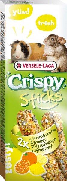 Crispy Sticks Meerschweinchen-Chinchillas Zitrusfrüchte 2 Stück 110g Kleintiersnack