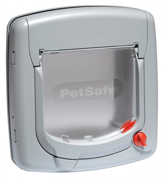 PetSafe Staywell Deluxe manuelle Katzenklappe grau