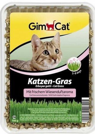GimCat Katzen-Gras mit Wiesenduftaroma 150g Nahrungsergänzung für Katzen