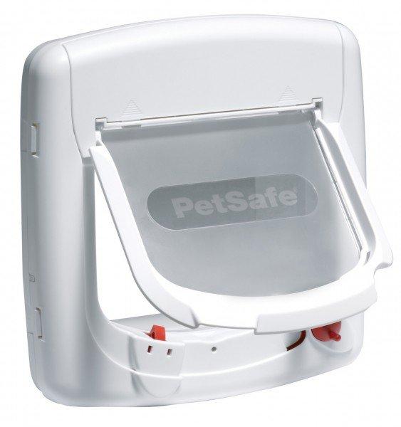 PetSafe Staywell Deluxe Magnetische Katzenklappe weiß