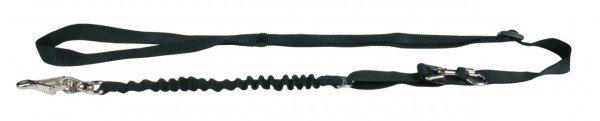 TRIXIE Fahrrad- und Joggingleine 1 - 2 m / 25 mm schwarz