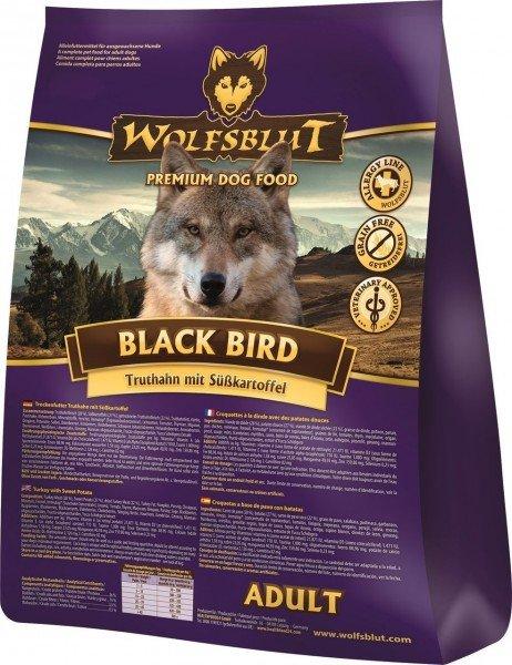 WOLFSBLUT Black Bird Adult mit Truthahn & Süßkartoffel Hundetrockenfutter