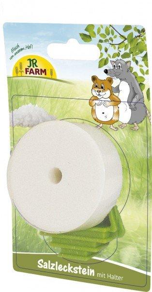 JR FARM Nager Salzleckstein mit Halter 80g Nahrungsergänzung für Kleintiere
