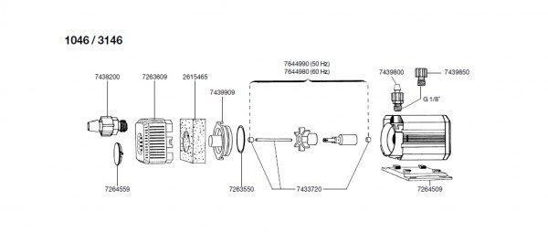 EHEIM 7644990 Pumpenrad Ersatzteil für 104601-20, 3146
