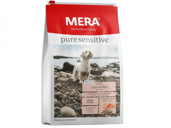MERA DOG pure sensitive MINI Lachs & Reis Hundetrockenfutter