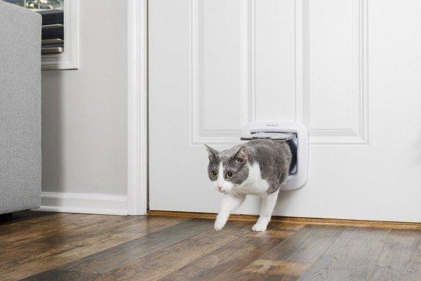 PetSafe Katzenklappe Deluxe 4-Way weiß