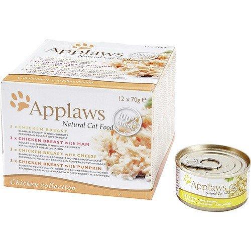 Applaws Cat Selection mit Hühnchen 12 x 70g Multipack Katzennassfutter