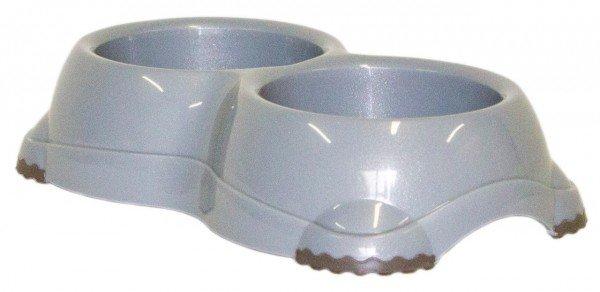 Moderna DOUBLE Smarty Bowl 2 2x645 ml spreckled grey Hundenapf
