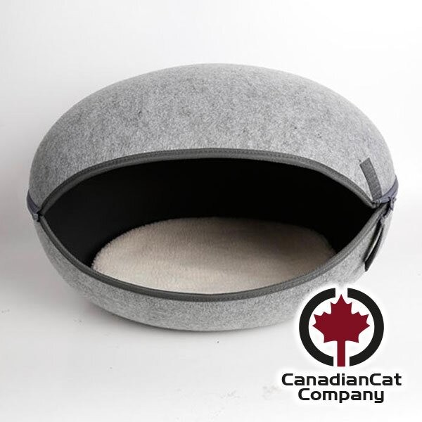 CanadianCat Katzennest uni-grau