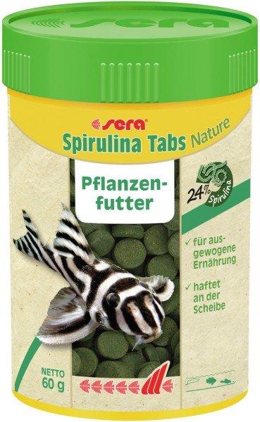 sera Spirulina Tabs Nature 100ml Pflanzenfutter Hafttablette