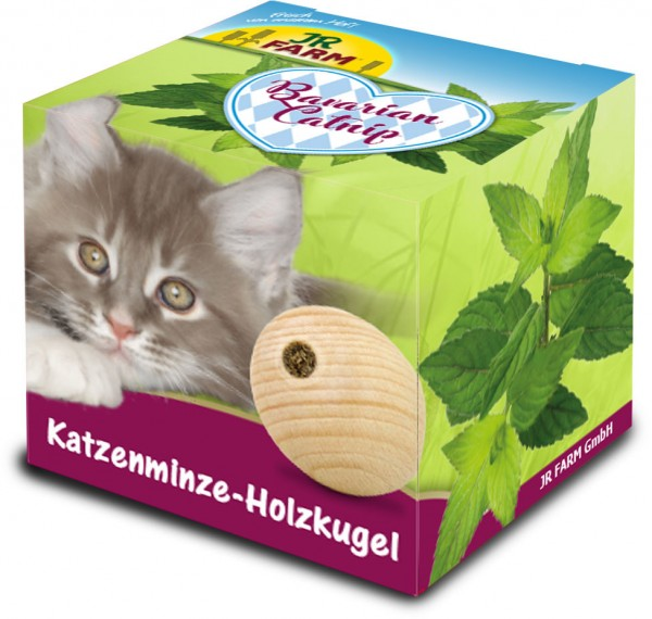 JR FARM Bavarian Catnip Katzenminze-Holzkugel Katzenspielzeug