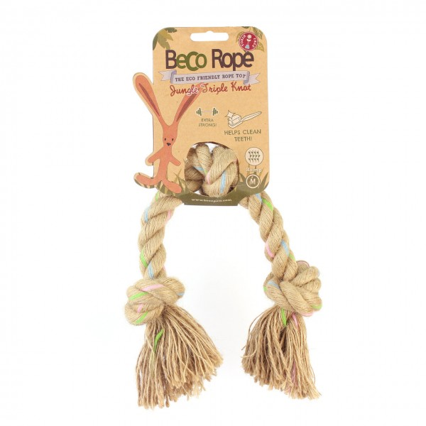 BecoThings Rope Jungle Triple Knot Hundespielzeug