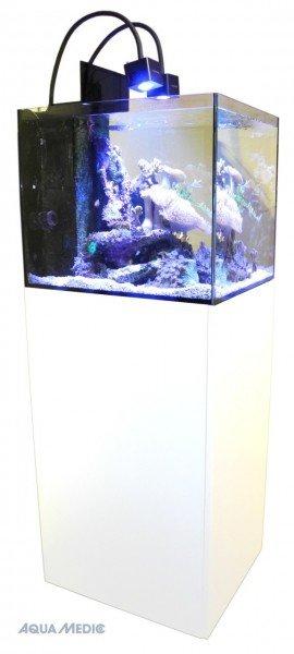 AQUA MEDIC Cubicus Qube CF Meerwasser-Aquarium mit Unterschrankfiltersystem weiß