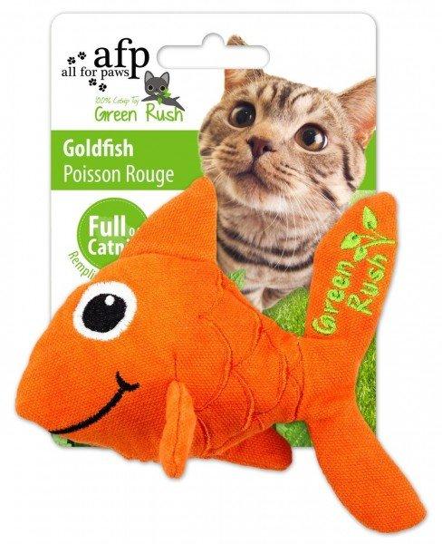 all for paws (afp) Green Rush Goldfish mit Katzenminze Katzenspielzeug