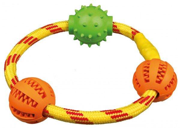 TRIXIE Denta Fun Seilring mit Bällen