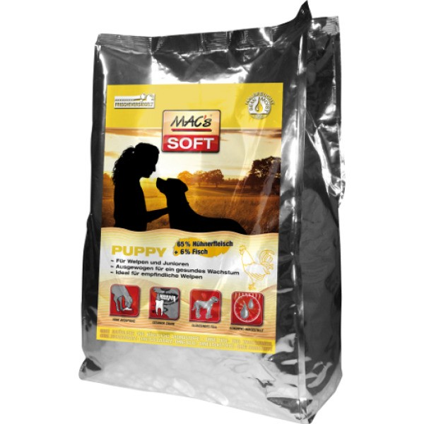 MAC's Dog Soft Puppy Huhn 1,5kg Hundetrockenfutter