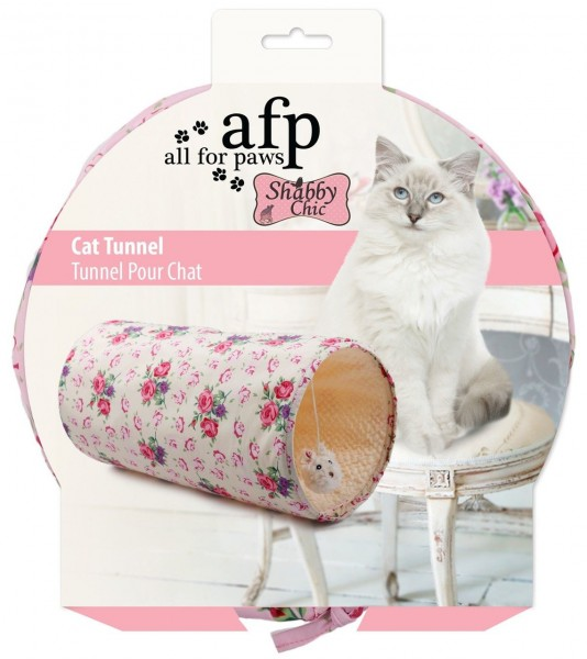 all for paws (afp) Shabby Chic Summer Time Tunnel Katzenspielzeug