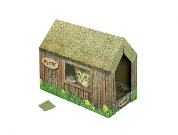 Nobby Katzenhaus aus Karton 49x26x36cm