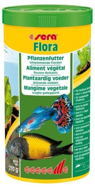sera Flora 1000ml Pflanzenfutter schwimmende Flocken