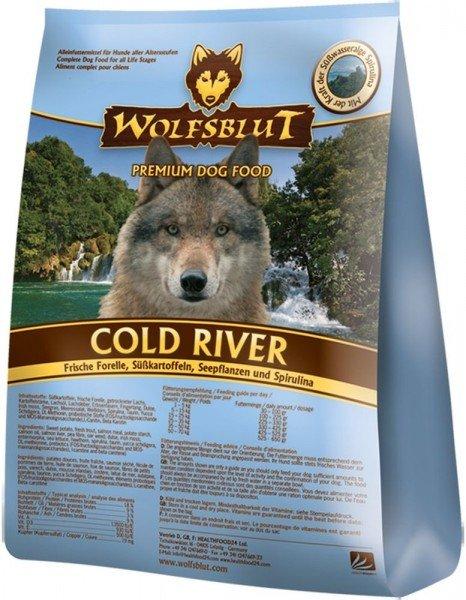 WOLFSBLUT Cold River mit Lachs, Forelle & Süßkartoffel Hundetrockenfutter