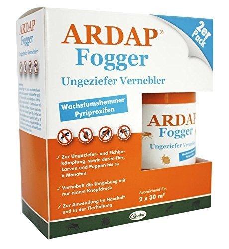 ARDAP Fogger 2er Pack (2 x 100ml) für 2 Räume je 30 qm