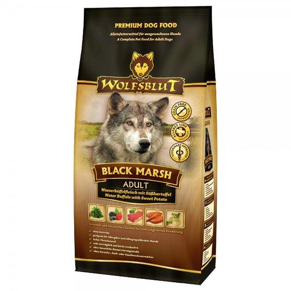 WOLFSBLUT Black Marsh Wasserbüffelfleisch mit Süßkartoffel Hundetrockenfutter