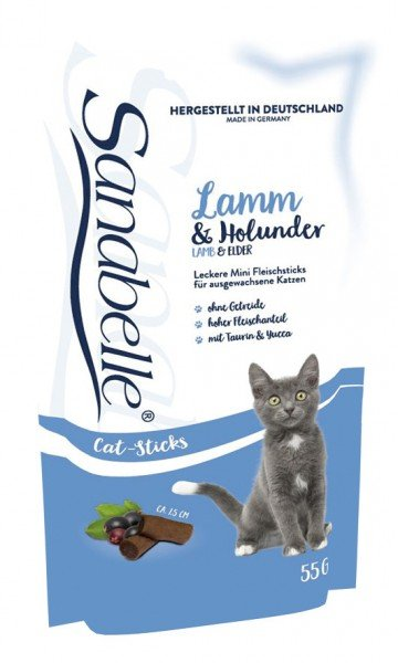 Sanabelle Cat Sticks Lamm & Holunder 55g Katzensnack