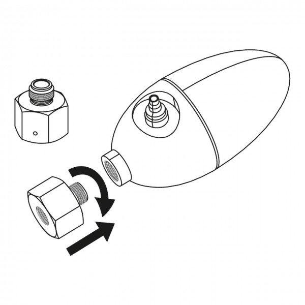 JBL ProFlora u - Einweg auf Dennerle Adapter