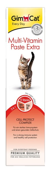 GimCat Multi-Vitamin Paste Extra 50g Nahrungsergänzung für Katzen