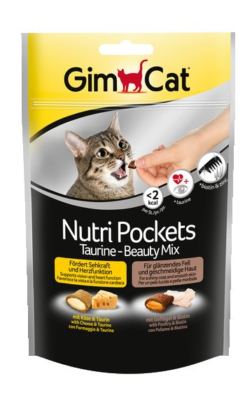 GimCat Nutri Pockets Taurine-Beauty Mix 150g Katzensnack