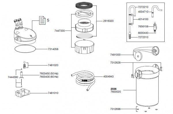 EHEIM 7312628 Bolzenplatte (2 Stück) Ersatzteil für 2231/33/35, 2232/34/36