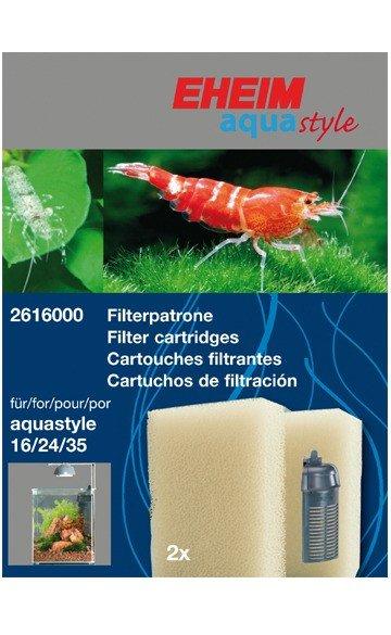EHEIM 2616000 Filterpatrone (2 Stück) für aquastyle 16/24/35