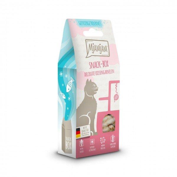 MJAMJAM leckere Snackbox delikate Riesengarnelen 25g Katzensnack