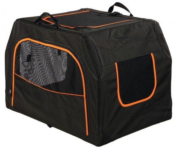 TRIXIE Transportbox Extend S - M 68 x 47 x 48 cm schwarz/orange
