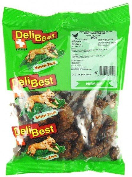 DeliBest Hähnchenhälse Premium 250g Hundekauartikel