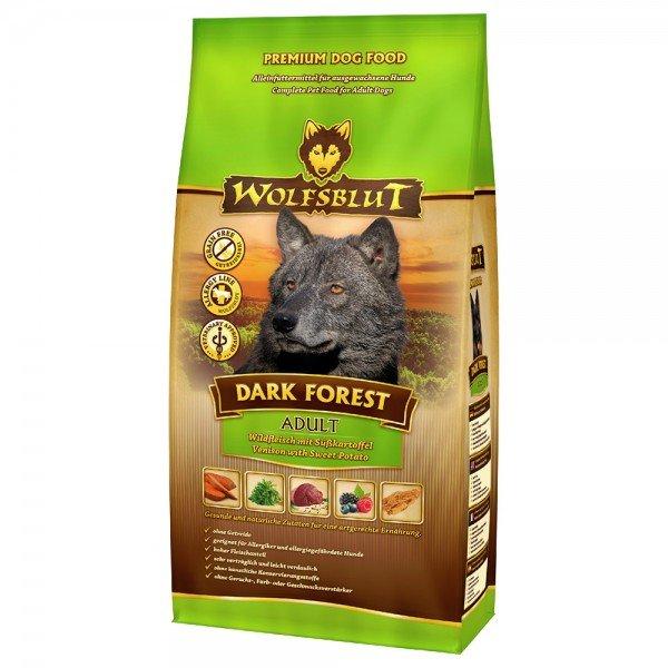 WOLFSBLUT Dark Forest Wildfleisch mit Süßkartoffel Hundetrockenfutter
