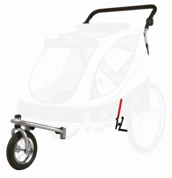 TRIXIE Jogger-Umbausatz für Fahrrad-Anhänger L grau/schwarz/gelb (#12808)