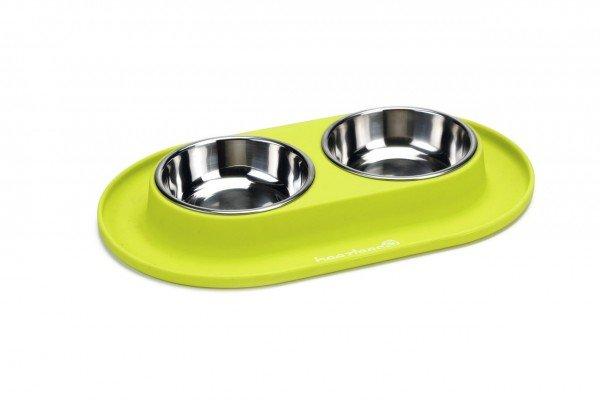 Beeztees Dinnerset für Hunde aus Silikon gelbgrün 31x19cm